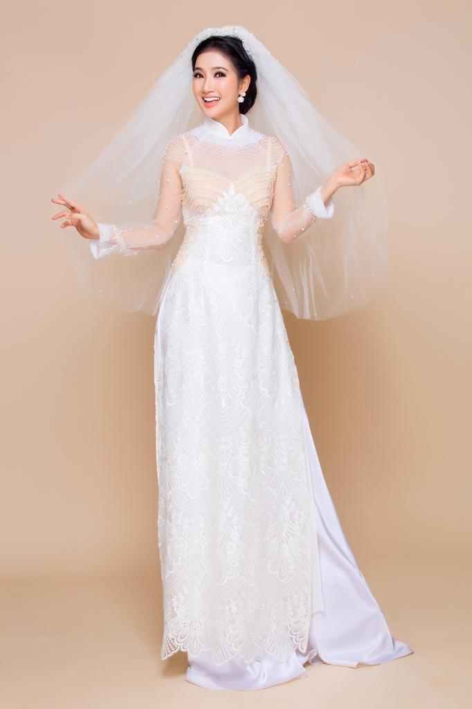Quỳnh Lam gây thương nhớ trong áo dài cưới Minh Châu