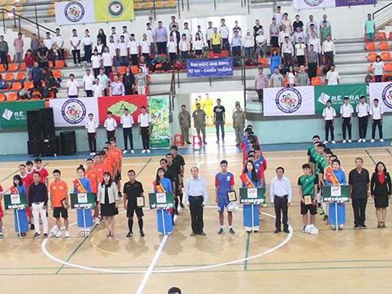 Khai mạc giải futsal sinh viên TP HCM 2017