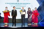 HEINEKEN Việt Nam được bình chọn là doanh nghiệp bền vững nhất tại Việt Nam