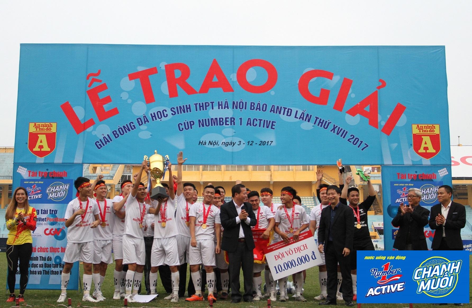 Trận chung kết Giải bóng đá học sinh THPT Hà Nội lần thứ 17