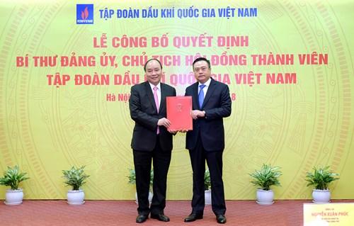 Thủ tướng trao quyết định bổ nhiệm Chủ tịch PVN cho ông Trần Sỹ Thanh