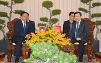 Viện trưởng VKSND tối cao Lê Minh Trí tiếp xã giao Viện trưởng VKSND tối cao Lào