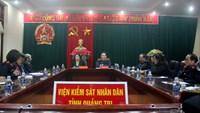 Đồng chí Nguyễn Thị Thủy Khiêm thăm làm việc tại VKSND Quảng Trị