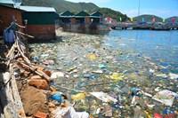 Khánh Hòa  Đảo Ngọc Bình Ba  ngập rác