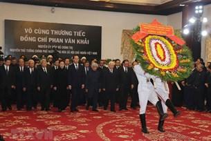 Hơn 2 000 đoàn với số lượng 108 000 người đến viếng nguyên Thủ tướng Phan Văn Khải