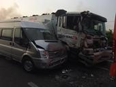 Khói mù mịt trên cao tốc Long Thành – Dầu Giây, nhiều ô tô tông nhau kinh hoàng