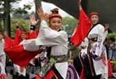 Rộn ràng rực rỡ vũ điệu Yosakoi Nhật Bản trên phố đi bộ Hà Nội