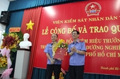 Bổ nhiệm Hiệu trưởng trường đào tạo, bồi dưỡng nghiệp vụ Kiểm sát tại TP Hồ Chí Minh