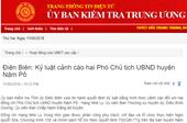 Kỷ luật cảnh cáo hai Phó Chủ tịch UBND huyện Nậm Pồ