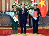 Chủ tịch nước thăng quân hàm cho các sĩ quan cấp tướng