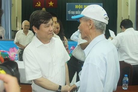 Viện trưởng VKSND tối cao Lê Minh Trí tiếp xúc cử tri quận 5 và quận 10 TP Hồ Chí Minh