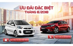 Tháng 8, cơ hội mua xe Kia với hàng loạt ưu đãi hấp dẫn