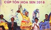 Tay đua David Van Eerd giành áo vàng chung cuộc Giải đua xe đạp quốc tế VTV Cúp Tôn Hoa Sen 2018