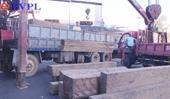 Bắt giữ hàng chục khối gỗ lậu trong đêm