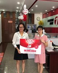 Maritime Bank trao thưởng 66 triệu đồng cùng hàng nghìn quà tặng cho khách hàng may mắn