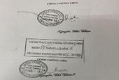 Thụ lý kiểm sát vụ án làm giả con dấu, tài liệu lập phòng công chứng
