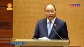 Thủ tướng Chính phủ phát biểu và trả lời một số chất vấn của đại biểu Quốc hội