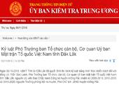 Kỷ luật Phó Trưởng ban Tổ chức cán bộ, Cơ quan Ủy ban MTTQ Việt Nam tỉnh Đắk Lắk