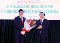 Bộ GD ĐT tổ chức lễ công bố và trao quyết định bổ nhiệm Thứ trưởng