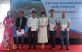 Bất động sản Phú Hồng Thịnh trao sổ hồng cho khách hàng trước thời hạn