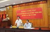 Viện trưởng VKSND tối cao Lê Minh Trí làm việc tại tỉnh Tây Ninh về công tác Cải cách tư pháp
