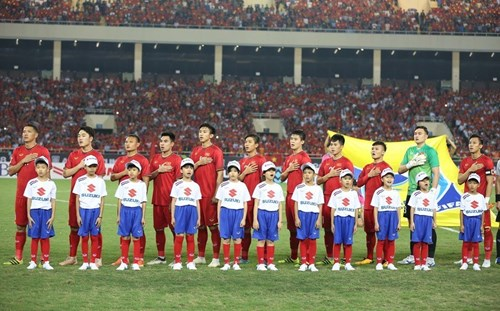 Đội hình xuất phát của tuyển Việt Nam. Ảnh: SN