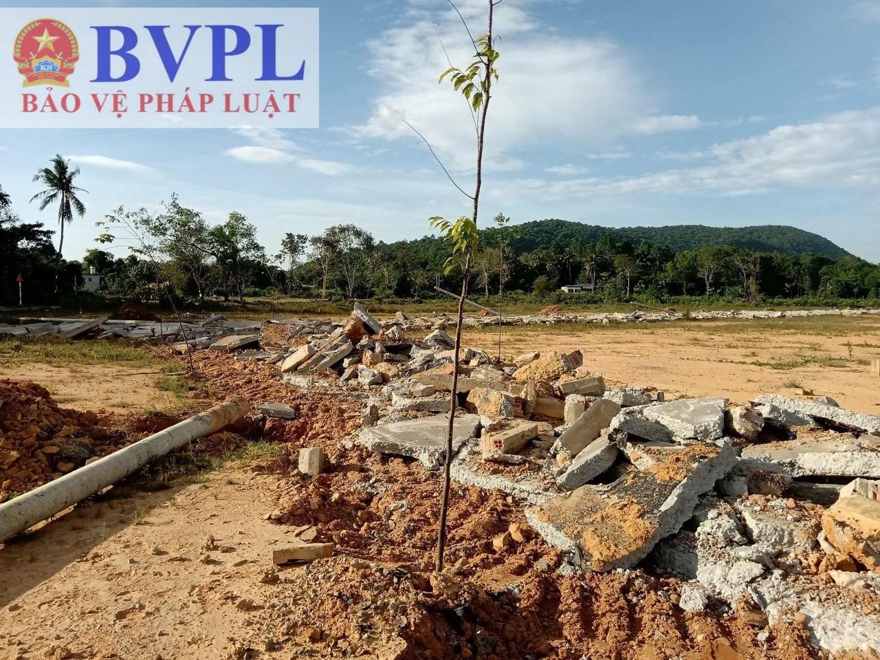 Tháo dỡ nhiều khu phân lô sai quy hoạch trên địa bàn huyện Phú Quốc
