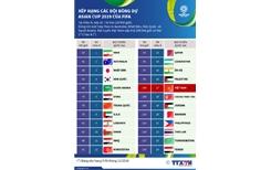 Xếp hạng các đội bóng dự Asian Cup 2019 của FIFA