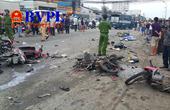 Container gây tai nạn thảm khốc, cán nát nhiều người và xe máy dừng đèn đỏ