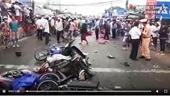 Container tông nhiều xe máy dừng đèn đỏ, hàng chục người thương vong