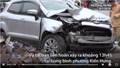 Ôtô tông liên hoàn khiến 2 người chết, 2 người bị thương