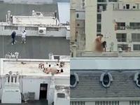 Ngán ngẩm cảnh đôi nam nữ diễn cảnh nóng trên sân thượng