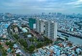 Cất nóc tháp C - Diamond Lotus Riverside Bức tường xanh khổng lồ giữa lòng Sài Gòn