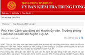 Mắc nhiều sai phạm, Trưởng phòng GD ĐT huyện Tuy An bị kỷ luật