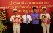 Công bố và trao quyết định của Viện trưởng VKSND tối cao về công tác cán bộ