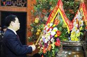 Phó Thủ tướng Chính phủ Vương Đình Huệ dâng hương tưởng niệm Chủ tịch Hồ Chí Minh