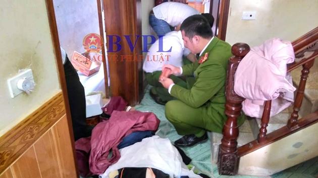 Đang khám nhà nghi phạm sát hại nữ sinh viên ở Điện Biên