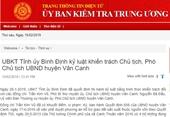 Chủ tịch, Phó Chủ tịch UBND huyện Vân Canh bị kỷ luật