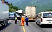 Hung thần container lại lao thẳng vào xe khách gần hầm Hải Vân, nhiều người thương vong