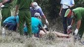 Hiện trường phát hiện thi thể người phụ nữ lõa thể tại bìa rừng Trà Nô