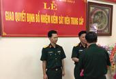 VKSQS Quân khu 2 trao quyết định bổ nhiệm kiểm sát viên