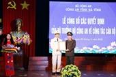 Đại tá Võ Trọng Hải được bổ nhiệm Giám đốc Công an tỉnh Hà Tĩnh