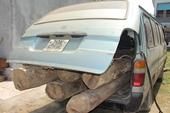 Bắt xe chở gỗ lậu phóng bạt mạng bỏ trốn trong đêm