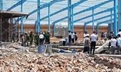 Hiện trường vụ sập tường khiến 5 người chết ở Vĩnh Long