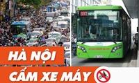 1 800 xe buýt cõng gần 10 triệu dân Cấm xe máy, rủ nhau chạy bộ