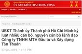 Kỷ luật nhiều cán bộ, nguyên cán bộ lãnh đạo Công ty Tân Thuận