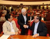 Hình ảnh Ban Bí thư TW Đảng gặp mặt cán bộ lãnh đạo nghỉ hưu