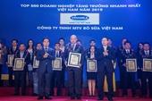 Công ty bò sữa Việt Nam thuộc Vinamilk nằm trong Top 100 của bảng xếp hạng 500 doanh nghiệp tăng trưởng nhanh nhất Việt Nam