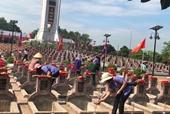 Truy điệu và an táng hài cốt liệt sỹ hy sinh tại chiến trường Lào