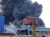 Cháy dữ dội tại một công ty sản xuất nhựa ở Hải Phòng